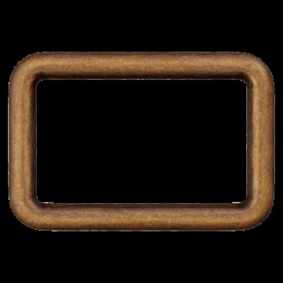 Rechteck-Ring, altmessing