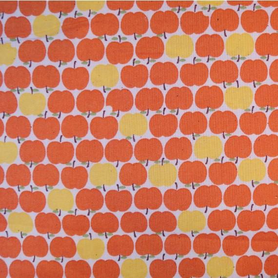 Quarter 45cmx56cm - Äpfelchen in orange-gelb