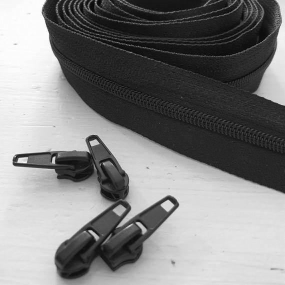 4mm Reissverschluss schwarz