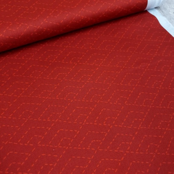 "Windham Fabrics ""Forest Spirit"" dunkelrot"