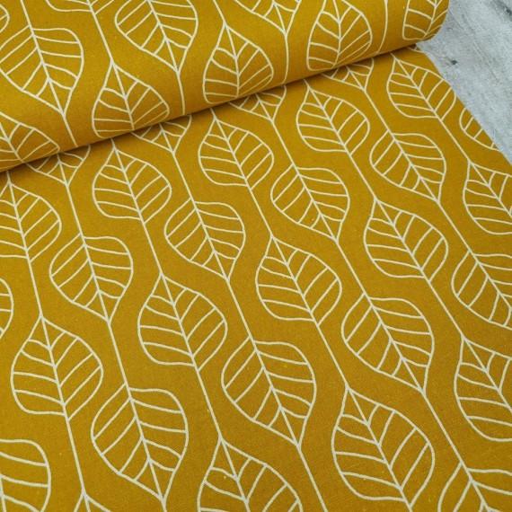 Canvas Skandi Leaves - senf