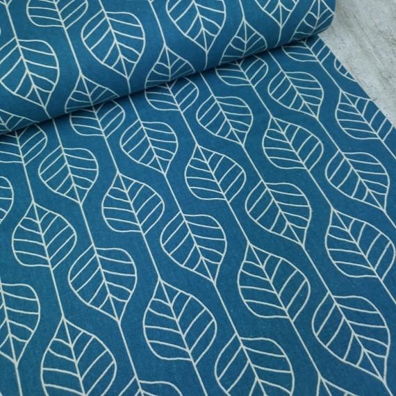 Canvas Skandi Leaves - blau