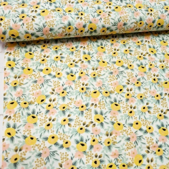 Cotton and Steel - Rifle Paper Co. - Rosa - cream