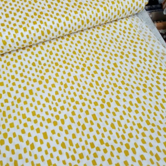 Baumwollstoff Flecken gelb