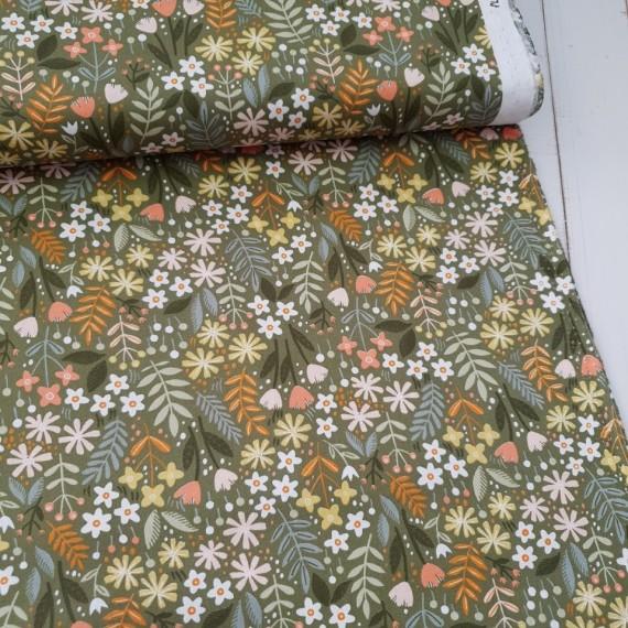 Baumwollstoff Springflowers - moss