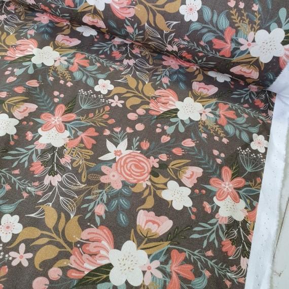 MYO Design Light Canvas - Wildflowers Bouquets - darktaupe