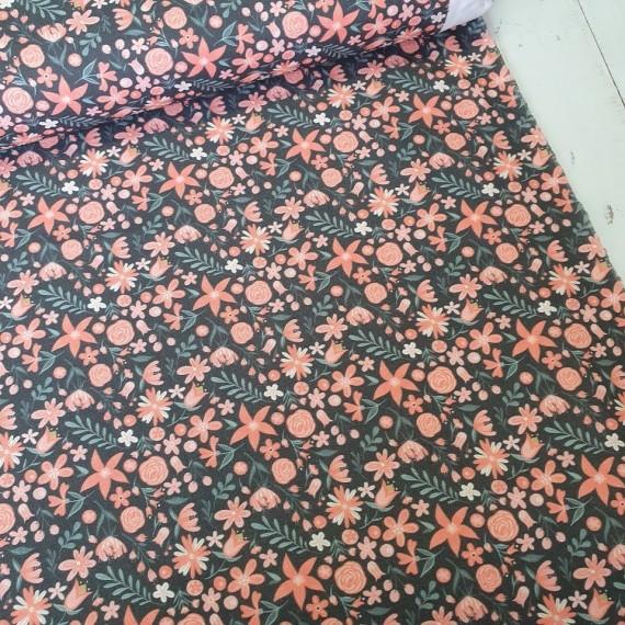 MYO Design Light Canvas - Wildflowers Dots - anthrazit