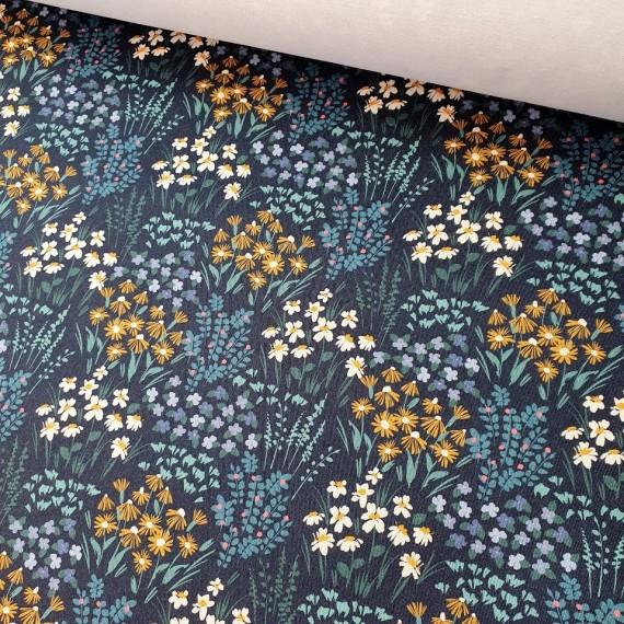 MYO Design Twill - Frühlingswiese - blau
