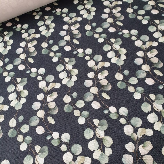 MYO Design - Heavy Canvas - Eucalyptus Ranken - dunkelblau