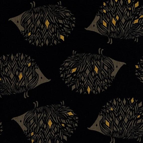 Cotton+Steel Canvas - Sleep Tight - Prickles black metallic