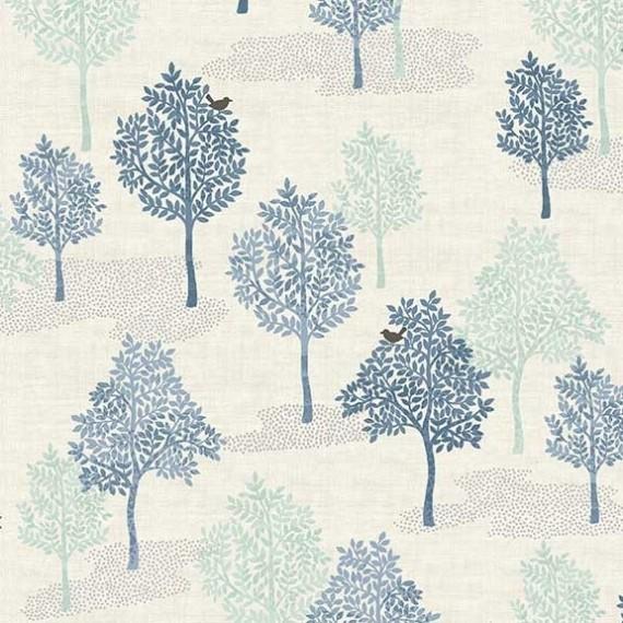 Makower - Woodland - Trees blue