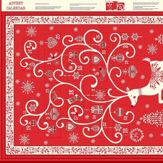 Makower - Scandi Advent - rot