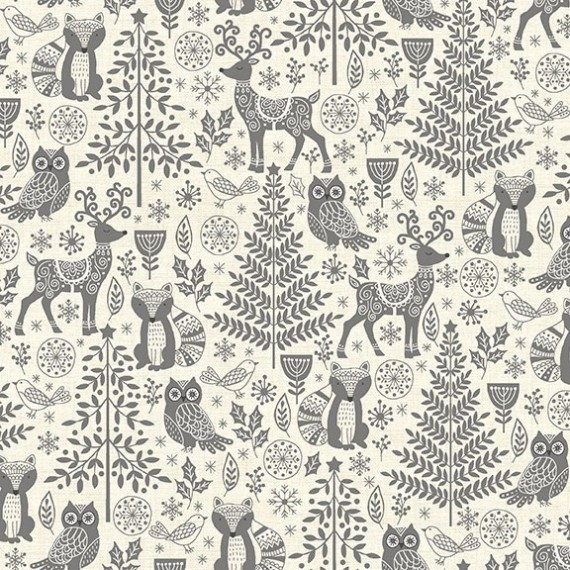 Makower - Scandi Forest Animals - grau