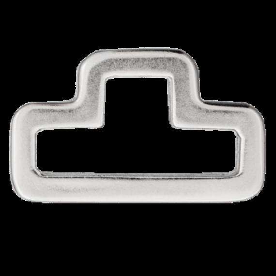 D-Ring, silber, 30mm