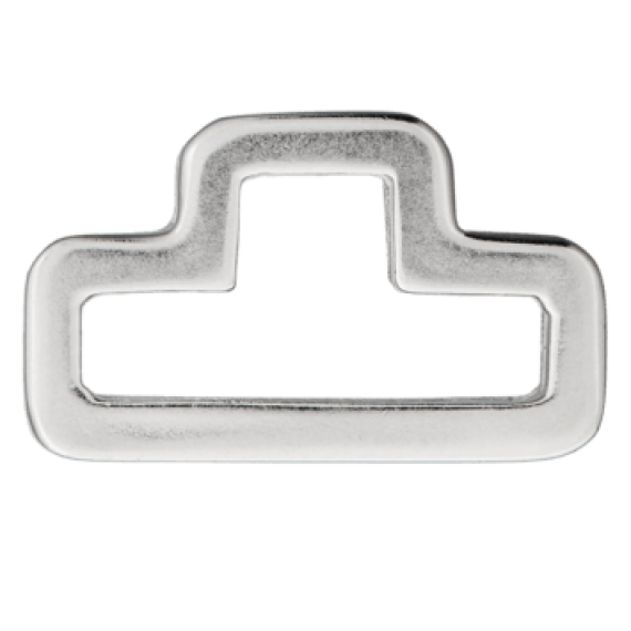 D-Ring, silber, 40mm