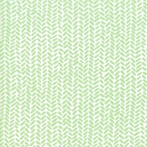 Golden Rod - Herringbone - aqua - Moda Fabrics von One Canoe Two