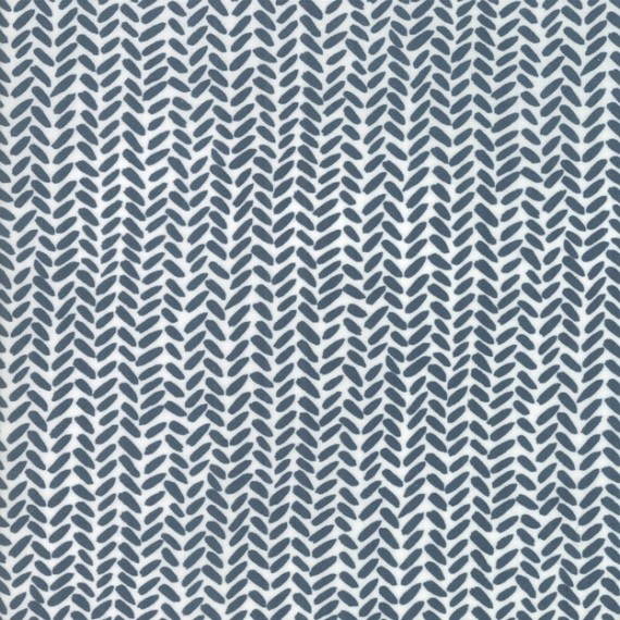 Golden Rod - Herringbone - navy - Moda Fabrics von One Canoe Two