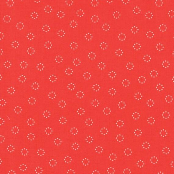 """Daisy Dots"" geranium - Creekside - Moda Fabrics"