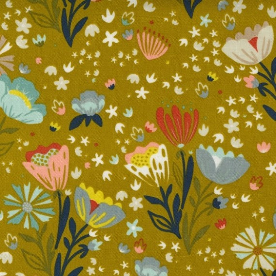 Posie Pocket, dijon - Songbook - Moda Fabrics