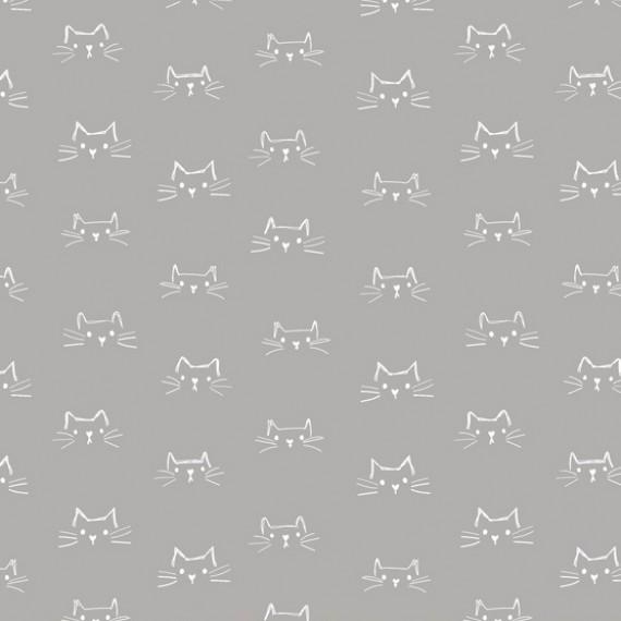 Windham Fabrics - Mod Cats - grau