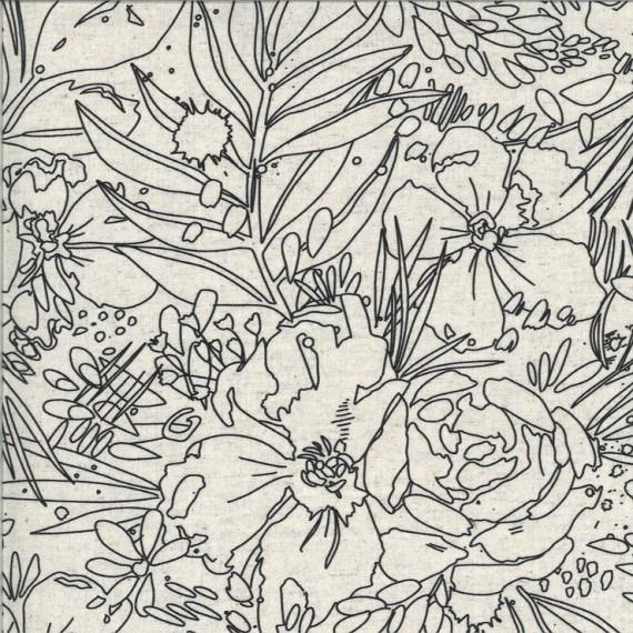 Moda Leinen Moody Bloom - Mochi Linen
