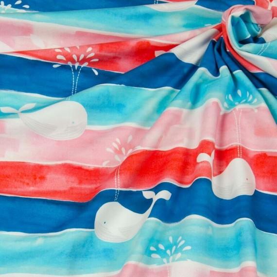 "Hilco Jersey ""Harbour Whale"" rot-weiß-blau"