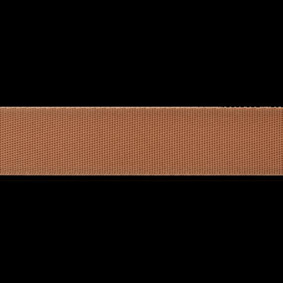 Dünnes Taschengurtband 25mm breit - hellbraun
