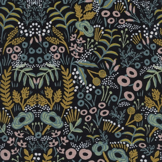 Cotton+Steel Canvas - Menagerie - Tapestry midnight metallic