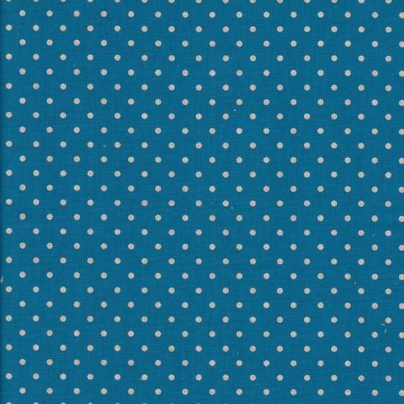 """Canvas """"Anton"""" in blau mit kleinen Punkten - Swafing"""