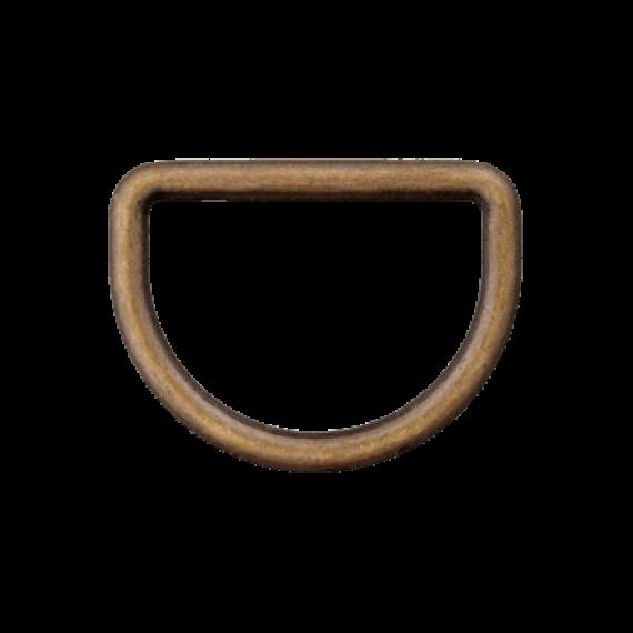 D-Ring altmessing verschiedene Breiten
