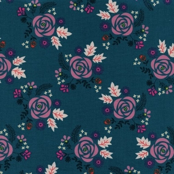 Cotton and Steel - Akoma - Wildflower - Teal