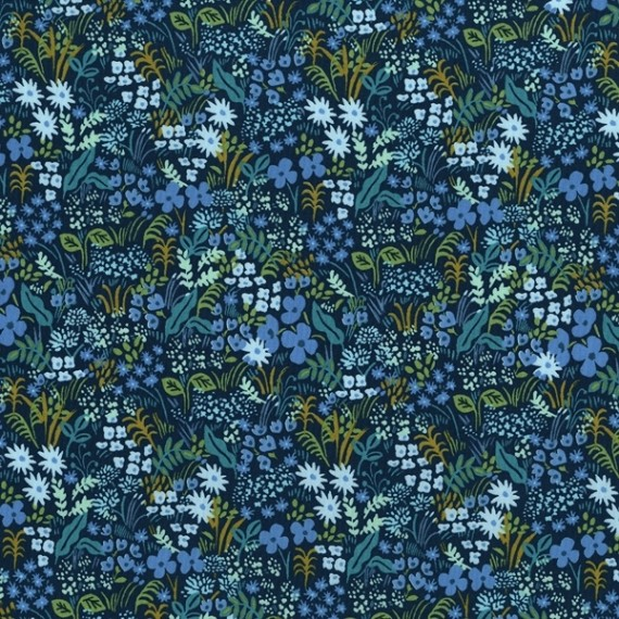 Cotton and Steel - English Garden - Meadow - blue