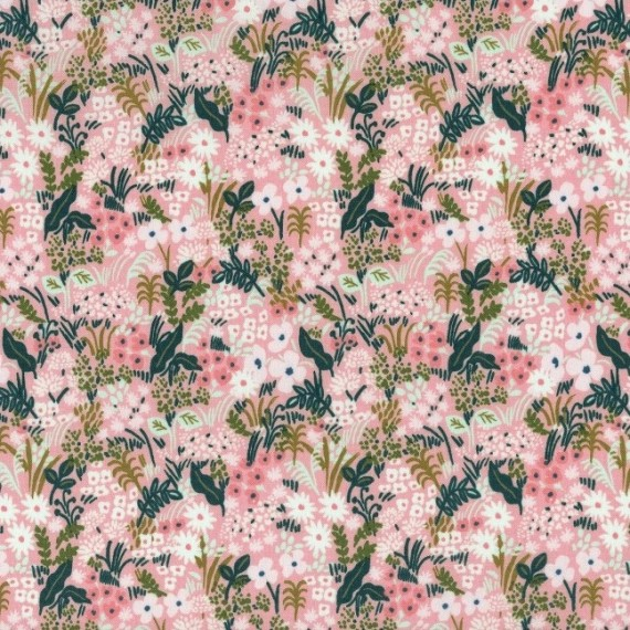 Cotton and Steel - English Garden - Meadow - rosé