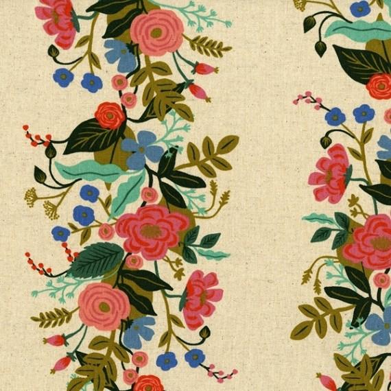 Cotton+Steel Canvas - Floral Vines - cream