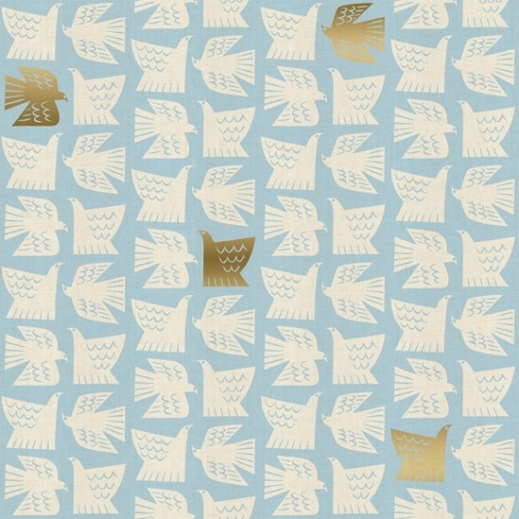 Cotton and Steel - Kibori - Paperbirds sky