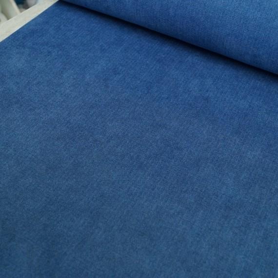 """""""Anni"""" Samtiger Deko / Taschenstoff in blau melange"""