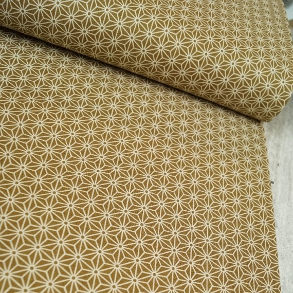 Quarter 45cmx55cm - Baumwollstoff - Japan Sterne - beige