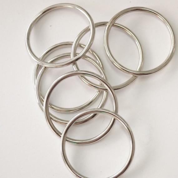 Metallring silber glänzend 40mm