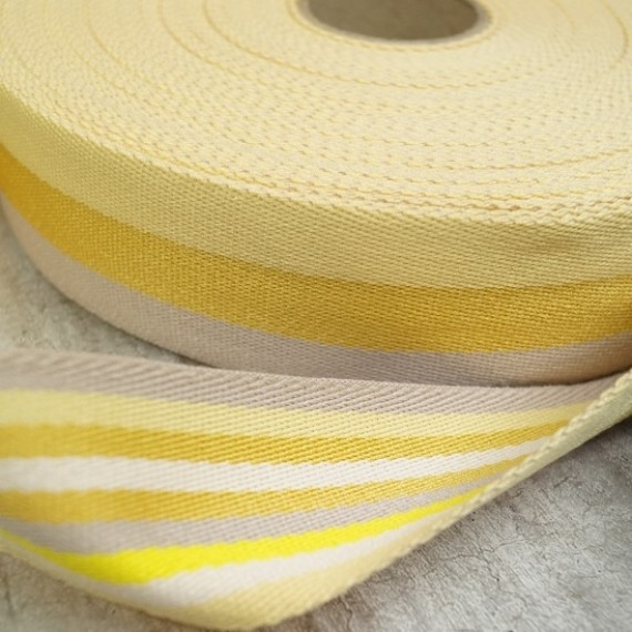 Doubleface Gurtband - 40mm - yellow