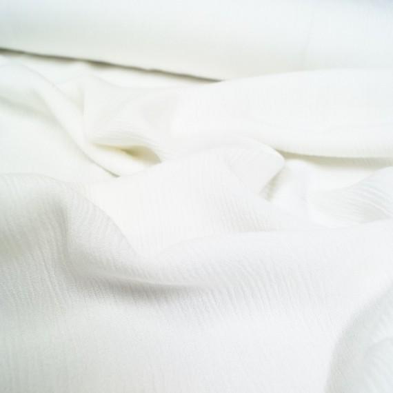 Crinkle Viskose - uni weiß