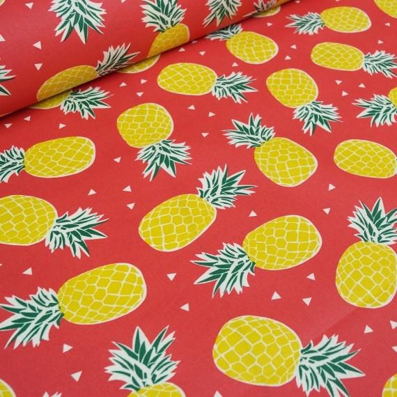 Pineapple - beschichtete Baumwolle - rot
