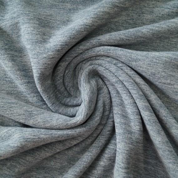 """Meliertes Fleece """"Tino"""" von Hilco jeansblau"""