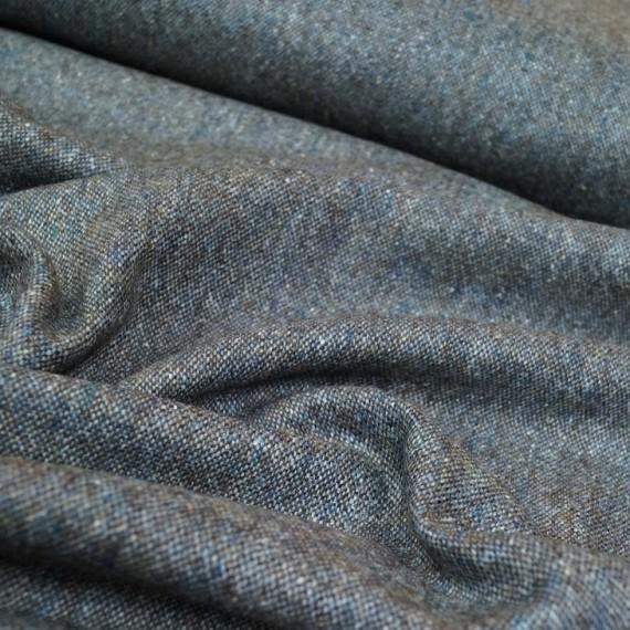 Hilco Woll Tweed Cardiff in blau-braun
