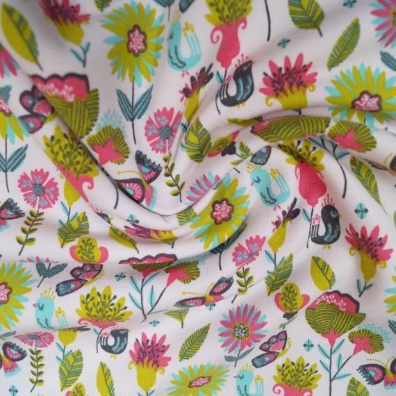Kuschelsweat Flower Birds