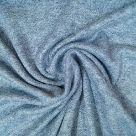 Weicher Feinstrick - blau-melange