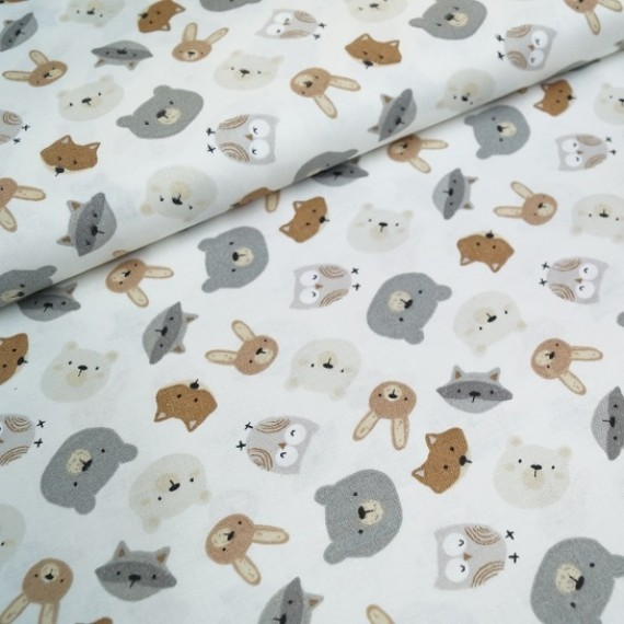 3 Wishes Fabrics - Woodlands - Little Critters