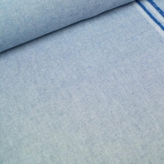 Melierter Canvas / Taschenstoff blau
