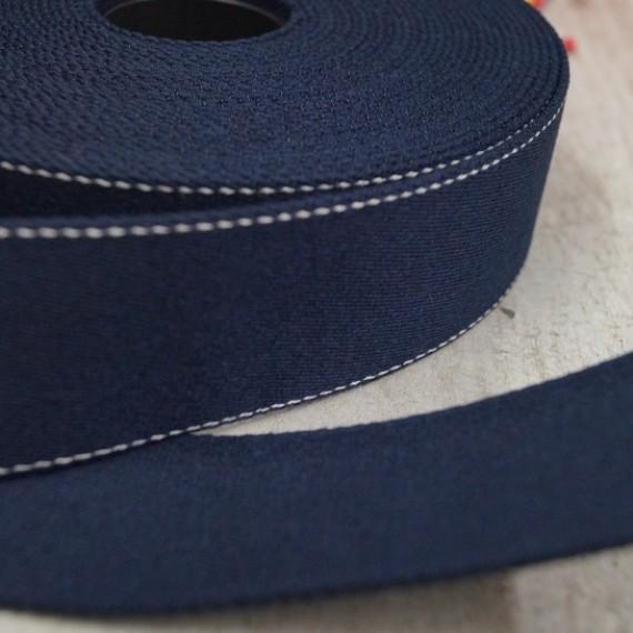 Pinstripe Gurtband 40mm breit - dunkelblau