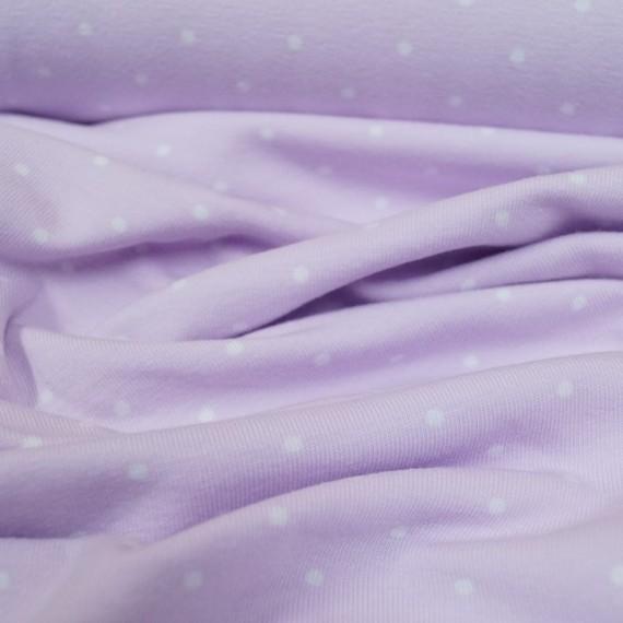 Mini Dotties Jersey - flieder-weiß