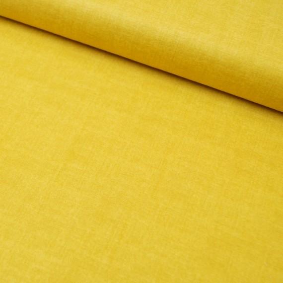 Makower - Linen Texture- sunflower